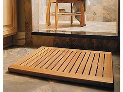 TEAK WOOD RECTANGLE DOOR SHOWER SPA BATHROOM FLOOR MAT INDOO