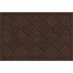 textures crosshatch entrance door mat chocolate 24x36