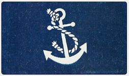 "Anchor Nautical 24"" x  39"" Coco Coir Indoor Outdoor Welcome"