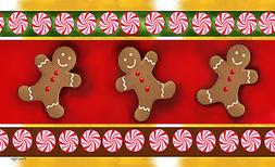 Toland Gingerbread Men 18 x 30 Decorative Holiday Cookie Flo