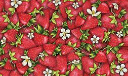 Toland Strawberry Collage 18 x 30 Decorative Colorful Berry