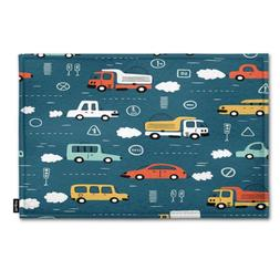 toy cars indoor outdoor doormat cartoon transportation