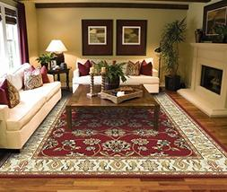 Traditional Area Rugs 2x3 Door Mat Indoor Red Small Rugs for