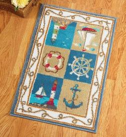 Nautical Lighthouse Sail Boat Anchor Runner Floor Rug Door M