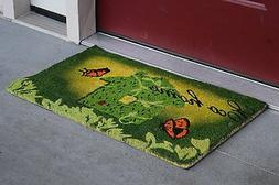 "Vinyl Backed Eco Home Printed Coco Doormat 0.5"" Thick - 18 b"