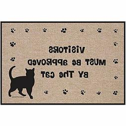 Visitors Must Be Approved By The Cat Doormat - Kitty Paws We