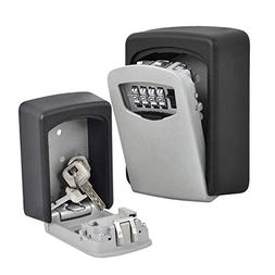 Behomy Wall Mount Key Lock Box, Key Safe,Dial Numbered Key S