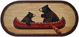 Dean Washable Non-Slip Bear Canoe Cabin Mountain Kitchen Bat