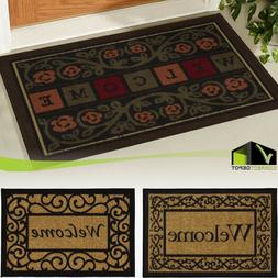 WELCOME DOOR MAT 20 x 30'' Heavy Duty Slip Resistant Rubber