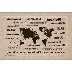 "High Cotton Welcome Doormats - International Language For ""W"