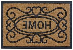 """Welcome Home Coco Coir Rubber Door Mat, 16"""" x 24"""" Welcome Ma"""