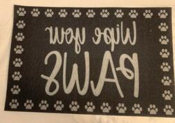 """""""Wipe Your Paws"""" Door Mat  16"""" x 24"""" Home Collection PET P"""