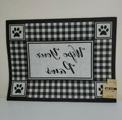 "Wipe Your Paws Rectangular Shape Door Mat, 18"" X 24"""
